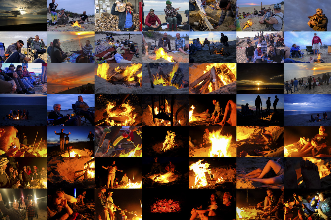 Beach Sunset Bonfire - Provincetown
